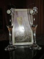 brand new wedding wine glasses