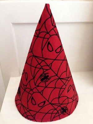 Red Spiderman Halloween Birthday Party Gnome Hat Cap! NEW! Handmade in the USA