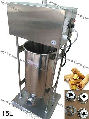 15l Electric Auto Spanish Churro Churreras Donut Maker Machine W Fryer Filler