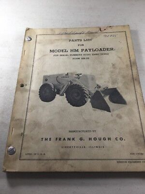 Hough Model Hm Payloader Parts Manual Hercules Jxd Engines Parts Manual