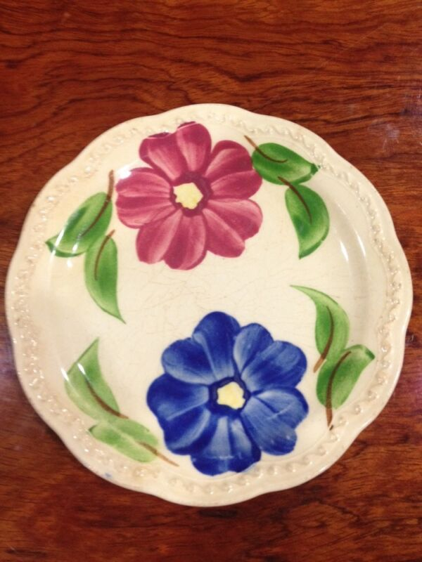 """Heritage Ware By Stetson Floral Dinnerware Dinner Plate 6"""" hand painted"""