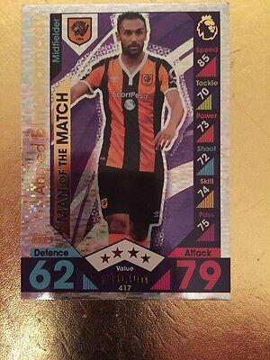 New Match Attax Season 16/17 #417 Ahmed Elmohamady- MOTM