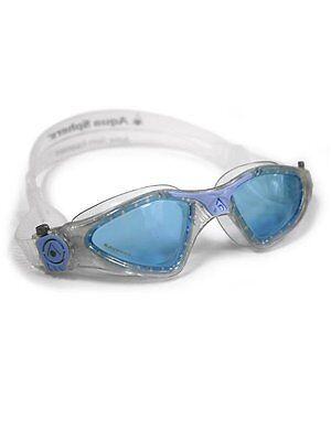 Lady Goggles - Aqua Sphere KAYENNE LADY BLUE Lens Womens Goggles Mask Triathlon GLITTER 170940