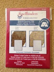 Spellbinders - M-bossabilities - Enchanted - Reversible Embossing Folder ES-005