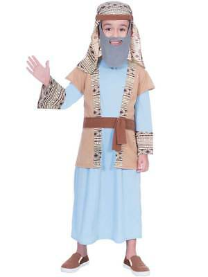 Boys Shepherd Joseph Inn Keeper Costume Christmas Nativity Play Fancy Dress Kids