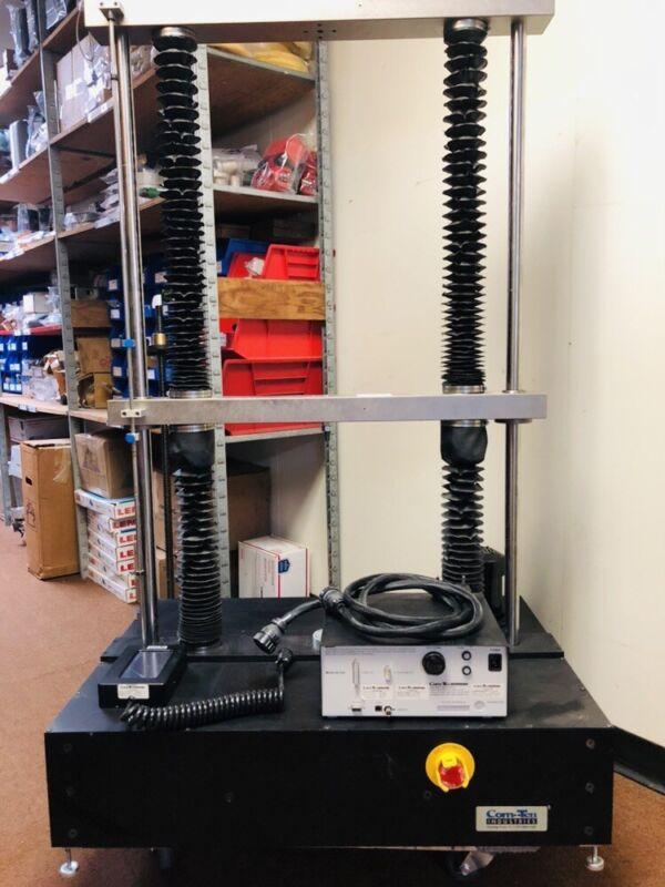 COM-TEN Pull Tester Model 727-520-1200m w/Multiple Blocks Up To 5000 lbs