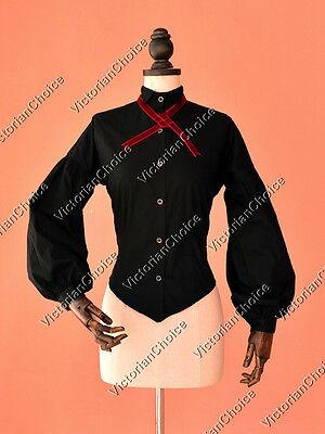 Victorian Edwardian Dickens Vintage Blouse Shirt Top Reenactment Clothing B314