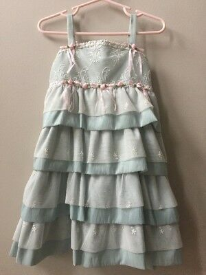 Isabella   Chloe Mint Green Lace Rosette Ruffle Special Occasion Formal Dress 3T