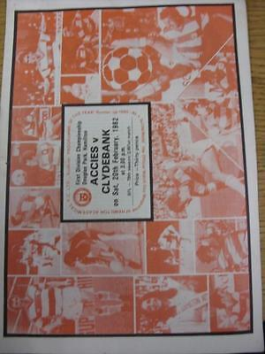 Hamilton 20 Light - 20/02/1982 Hamilton Academical v Clydebank  (Light Crease, Nicks)