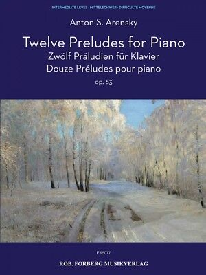 Twelve Preludes for Piano Sheet Music Op. 64 Piano Solo Book NEW 050601350