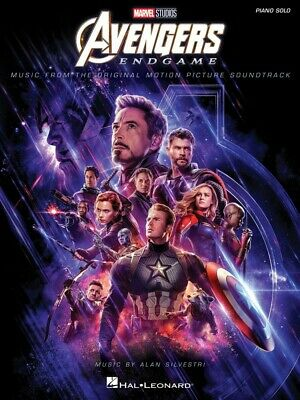 Solo Sheet Music Songbook - Avengers Endgame Sheet Music Piano Solo SongBook NEW 000298945