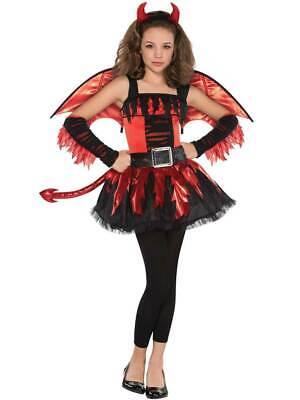 Teen Girls Daredevil Red Devil Tween Party Fancy Dress Halloween Tutu - Teen Devil Girl Kostüm