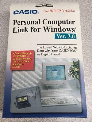 Casio Personal Computer Link for Windows FA-128 PLUS Ver 3.0 Digital Diary BOSS
