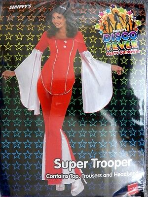 Smiffy's Disco Fever Super Trooper Damen Kostüm  70er Jahre Fasching Neu OVP