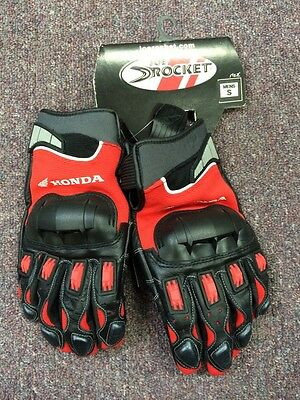 - Honda HRC Small Motorcycle Glove Hondaline Red Black Mesh