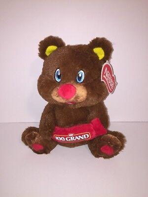 "Nestle 100 Grand Plush Teddy Bear Chocolate Candy Bar Logo 10"" KellyToy New"