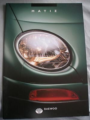 Daewoo Matiz range brochure Aug 1998 German text