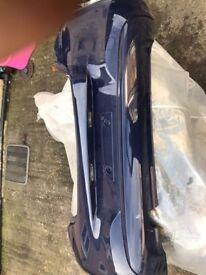 corsa e rear bumper 5 door blue