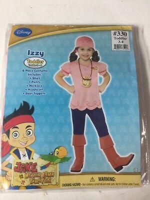 NEW HALLOWEEN Costume Disney Junior Jake Neverland Pirates IZZY Toddler 3-4 - Izzy Jake Neverland Pirates Halloween Costume