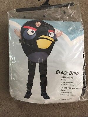 Angry Birds Black Bird One Size Adult Costume - Angry Birds Black Bird Kostüm