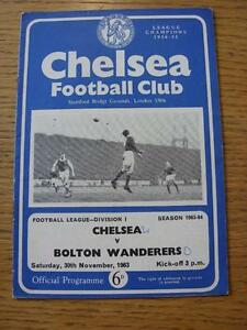 30-11-1963-Chelsea-v-Bolton-Wanderers-Score-On-Front-Team-Changes