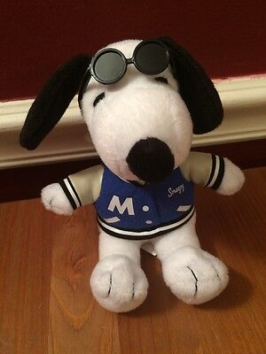 Metlife 6  Cool Snoopy Peanuts Dog Sun Glasses Plush Stuffed Animal Collectible