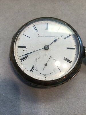 Date Silver Pocket Watch - Antique Early Elgin Coin Silver Case Pocket Watch Dates to 1878