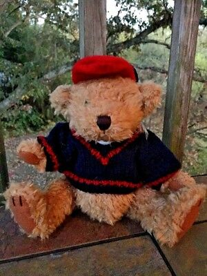 "Brass Button Pickford Bears Tully BASEBALL United States 9"" Bear of Friendship"