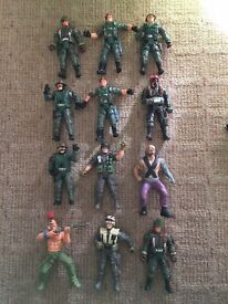 Assortment of play figures and soldiers