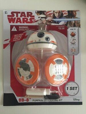 New Star Wars BB-8 Pumpkin Push-Ins Fall Decor Disney Gemmy Halloween - Disney Halloween Decorations 2017