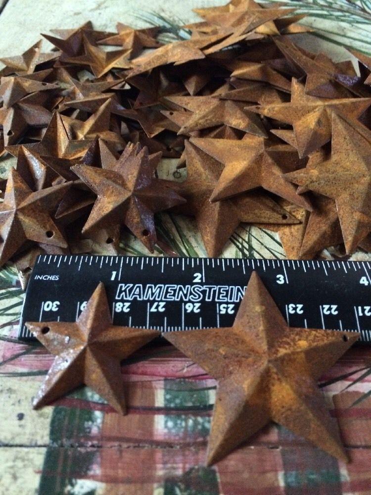 100 Total Rusty Barn Stars (50) 1.5