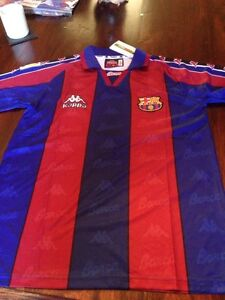 BARCELONA Remake Retro SHIRT KAPPA 1995-97SEASONS Size L Ronaldo 9 Brazil Messi