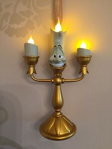 Disney Lumiere Light Up Christmas Decoration Ornament Beauty & The Beast