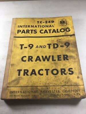 International T-9 Td-9 Crawler Tractors Parts Catalog Manual