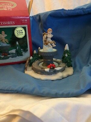 Dickens Collectibles Accessories Angel On A Fountain