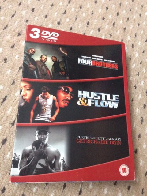 Four Brothers/Hustle And Flow/Get Rich Or Die Tryin' (DVD, 2006, 3-Disc Set, Box