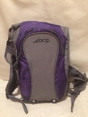 BCG Purple and Gray Hydration Back Pack Bicycle Hiking New