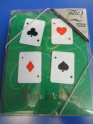 Casino Night Card Party Prom Theme Party Novelty Invitations w/Envelopes - Casino Invites