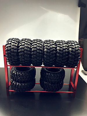 - Metal RC Truck Tyre Rack for 1/10 Wheel Rims Tire RC 4WD SCX10 D90 CC01 Red