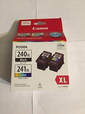 "Canon PG-240XL /CL-241XL Color Ink Cartridge Combo Pack-Black ""New Retail"""
