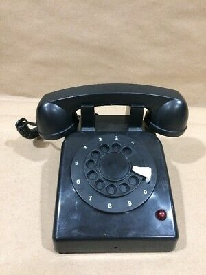 Gemmy Haunted Halloween Telephone Phone Rotary Black Motion ACtivated Red Light