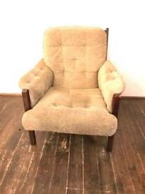 Danish fabric armchair