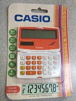 NEW Casio SL100VC-OE Electronic Calculator 8-Digit LCD DUAL LEAF ORANGE % (Dual Leaf)