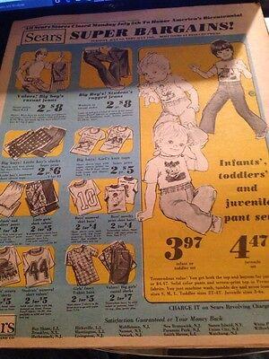 Vintage Advertising Sears Sales Circular from July 6, 1976 ()