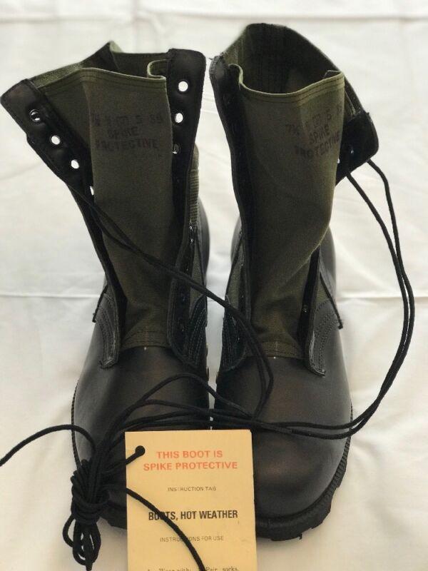 Genuine Post Vietnam vintage Spike Protective Jungle Boots US GI New 7 1/2 Wide