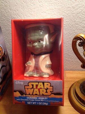 (STAR WARS Yoda CERAMIC GOBLET With Choco Fudge Mix 6