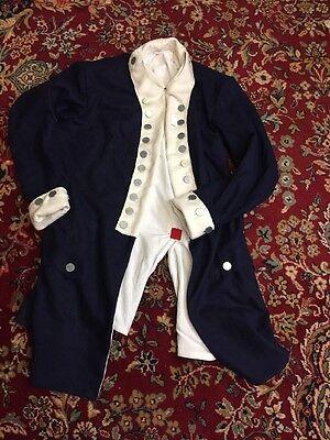 Blue And White Revolutionary War Regimental Coat