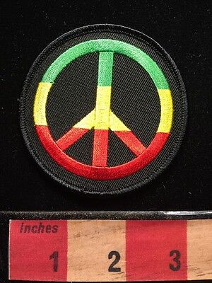AFRICA Colors Themed Patch + PEACE SIGN SYMBOL ~ Anti-War Nation Continent 67WP