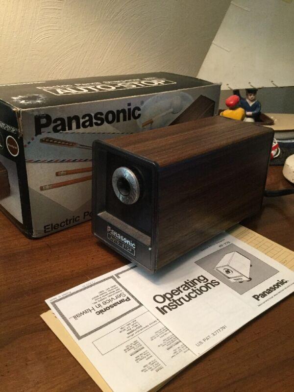 Panasonic Electric Pencil Sharpener In Box W/paperwork