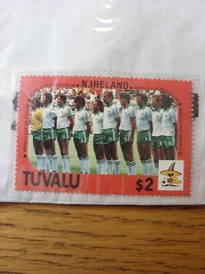 1986 World Cup Stamp: Tuvalu - Northern Ireland Team